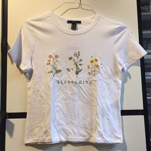 Forever 21 Blossoming flowers graphic tee